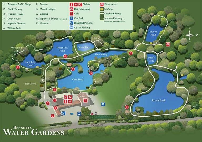 Garden Map Bennetts Water Gardens